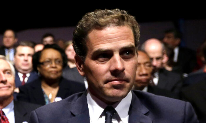 Hunter Biden, son of former Vice President Joe Biden, waits for the start of his father's debate at Centre College in Danville, Ky., on Oct. 11, 2012. (Pablo Martinez Monsivais/AP Photo)