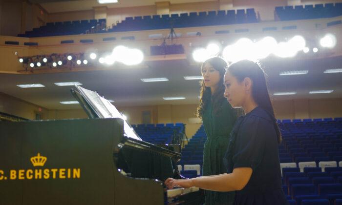 Pianist Qin Yuan rehearsing. (Courtesy of Qin Yuan)