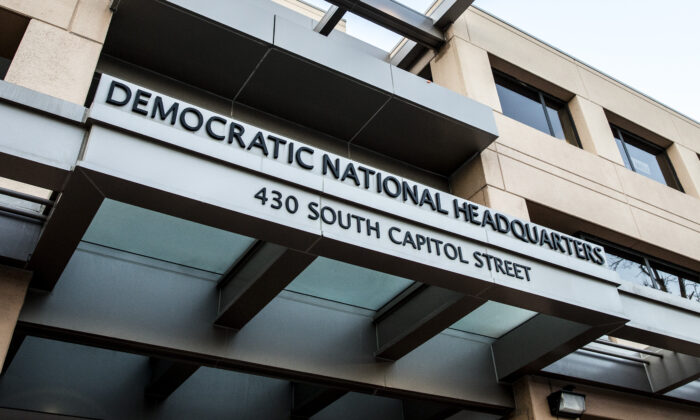 The Democratic National Headquarters in Washington on Jan. 30, 2018. (Samira Bouaou/The Epoch Times)