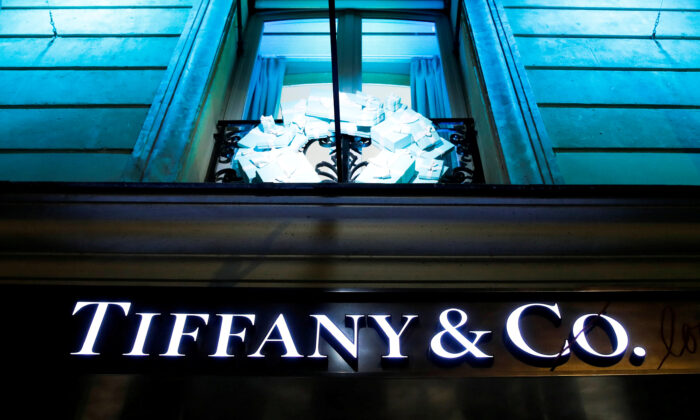A Tiffany & Co. logo outside a store in Paris on Nov. 22, 2019. (Gonzalo Fuentes/File Photo/Reuters)
