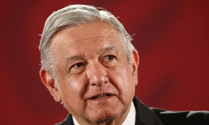 Mexico's President Andres Manuel Lopez Obrador attends a news conference at the National Palace in Mexico City, Mexico in a Nov. 13, 2019. (Edgard Garrido/Reuters/File)