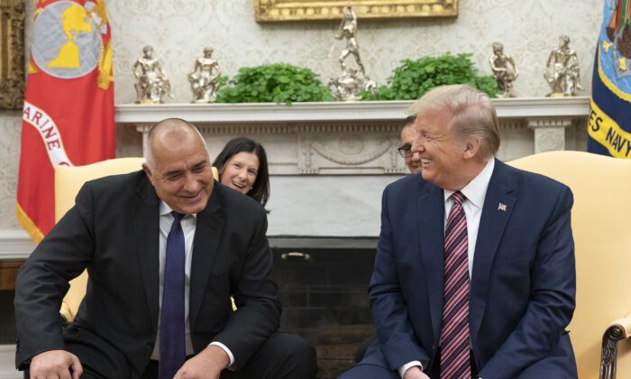 President Donald Trump meets with Bulgarian Prime Minister Boyko Borissov (L) in the Oval Office of the White House on Nov. 25, 2019. (Official White House Photo by Shealah Craighead)