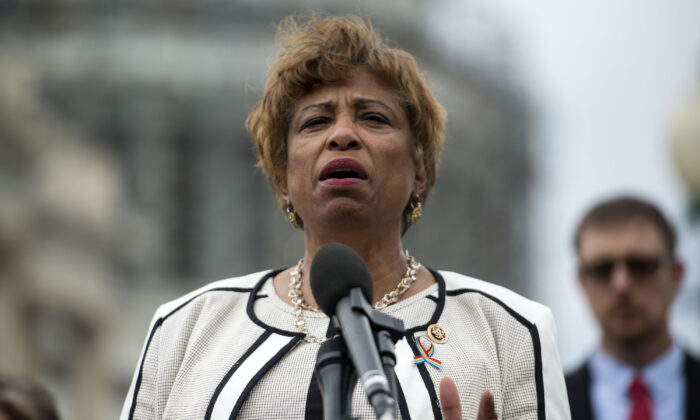 Rep. Brenda Lawrence (D-Mich.) speaks in Washington in a 2016 file photograph. (Leigh Vogel/Getty Images for MoveOn.org)