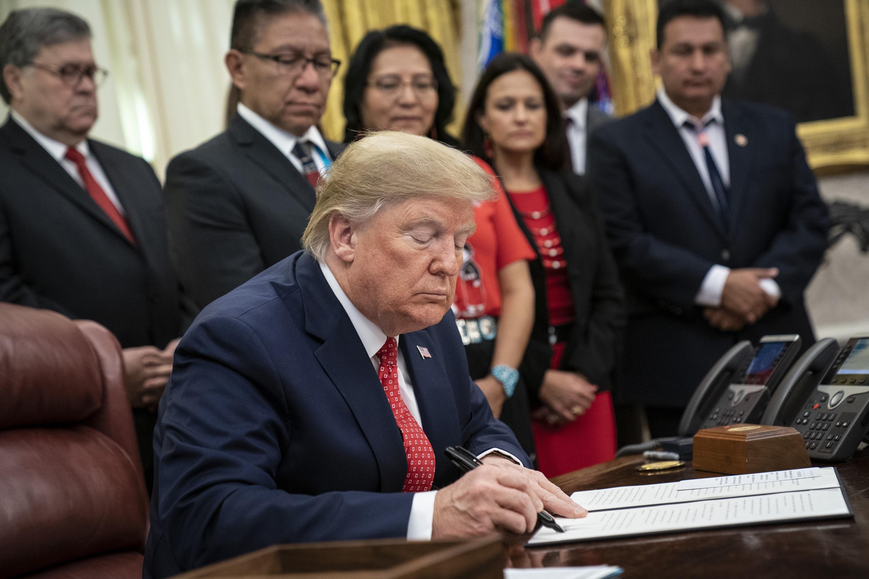 trump signs native american order