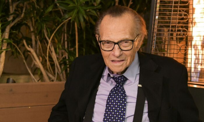 Larry King on his 86th birthday in Beverly Hills, Calif., on Nov. 25, 2019. (Rodin Eckenroth/Getty Images)