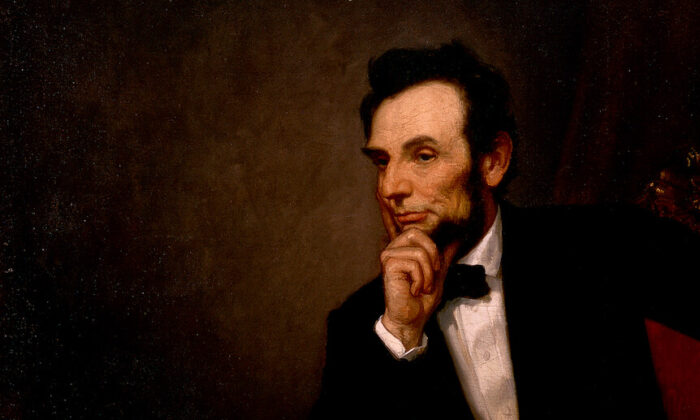 A portrait of Abraham Lincoln by George Peter Alexander Healy, 1869 (detail). (Public domain)