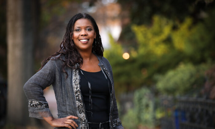 Star Parker, syndicated columnist, author, and conservative political activist in Washington on Nov. 14, 2019. (Samira Bouaou/The Epoch Times)