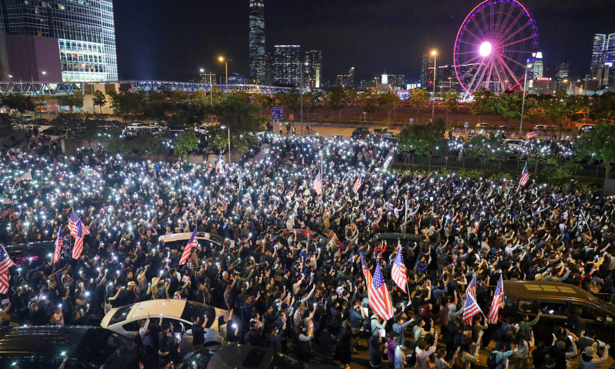 Protesters Throw Rally to Thank US for Enacting Hong Kong Bills