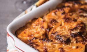 Butternut Squash and Roasted Garlic-Gruyère Gratin