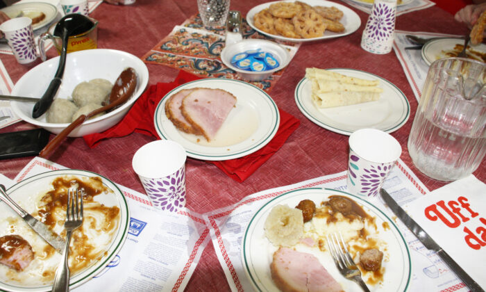 Together, the women of Trinity Lutheran Church have prepared a proper Norwegian feast. (Courtney Duke Graves)