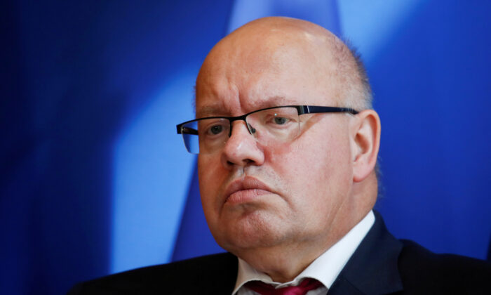 German Economy Minister Peter Altmaier attends a joint news conference after a meeting in Paris, France, on Sept. 19, 2019. (Gonzalo Fuentes/Reuters)