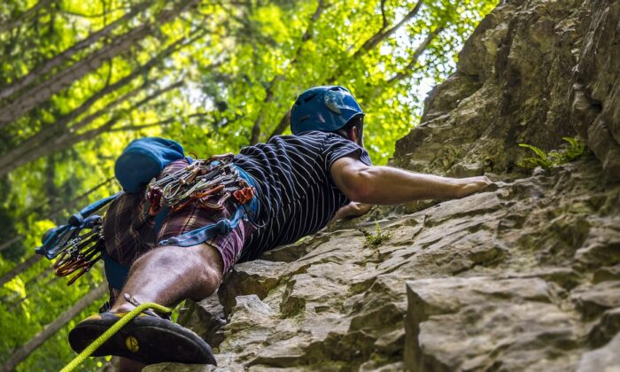 Stock photo of rock climber. (Pixabay)