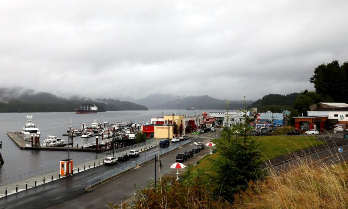 Cow Bay and the tourist area of Prince Rupert, British Columbia, on Aug. 31, 2018. (The Canadian Press/Colin Perkel)
