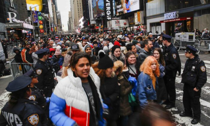 Thousands Gather In Times Square To Ring In 2020