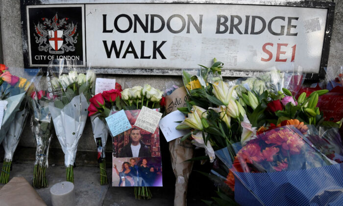 Messages of condolence and floral tributes London Bridge attack