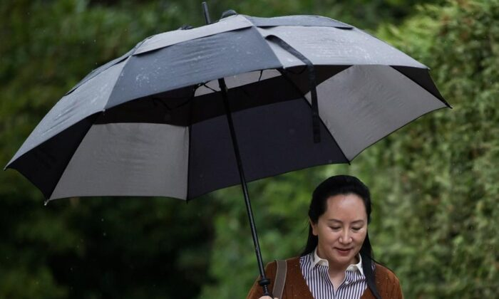 Huawei chief financial officer MengWanzhou, who is out on bail and remains under partial house arrest after she was detained last year at the behest of American authorities, in Vancouver on Oct. 3, 2019.(The Canadian Press/Darryl Dyck)