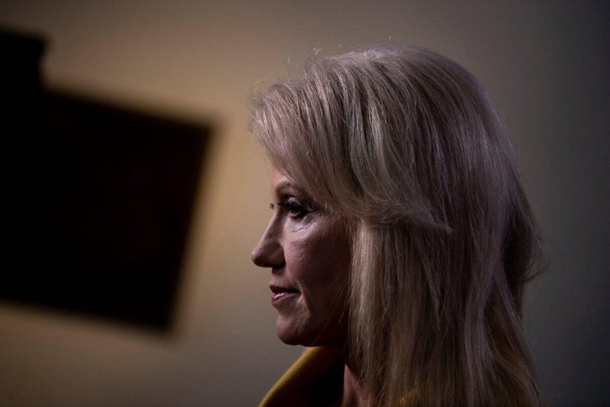 Kellyanne Conway tweeted about Joe Biden and Ukraine. Then her husband replied