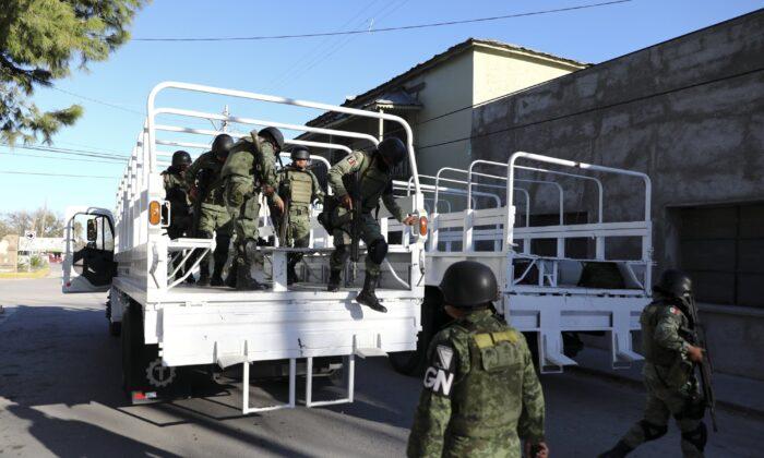 National Guard soldiers arrive in Villa Union, Mexico, on Dec. 2, 2019. (Eduardo Verdugo/AP Photo)