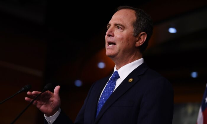 House Intelligence Chairman Adam Schiff (D-Calif.) holds a press conference in Washington on Dec. 3, 2019. (Brendan Smialowski/AFP via Getty Images)