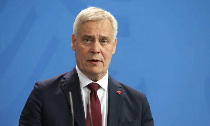 Finnish Prime Minister Antti Rinne attends a press conference at the German federal Chancellery on July 10, 2019 in Berlin, Germany. (Adam Berry/Getty Images)