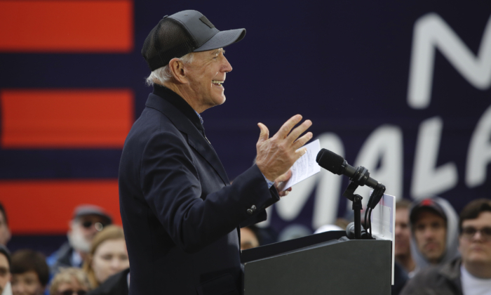 Democratic presidential candidate and former Vice President Joe Biden speaks during a campaign event in Council Bluffs, Iowa, on Nov. 30, 2019. (Joshua Lott/Getty Images)