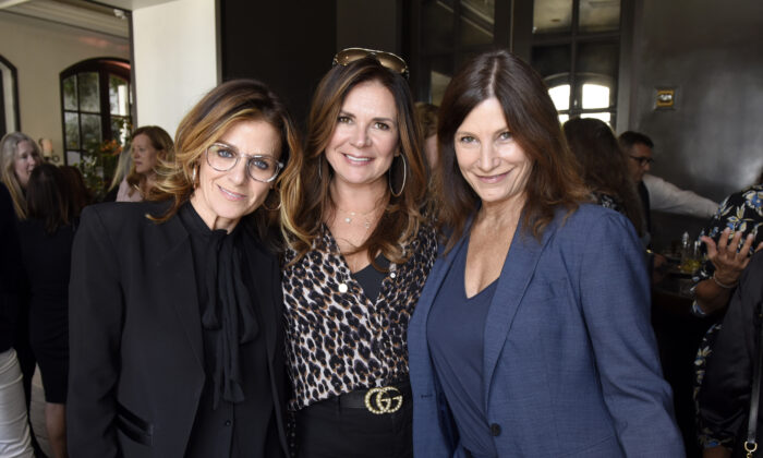 President and Chief Strategy Officer, Live Nation / Women Nation Ali Harnell; business manager Lou Taylor; and creative consultant at Atlas Music Publishing Tracy Gershon attend Billboard Women's Luncheon In Honor Of Deborah Dugan at Spago in Beverly Hills, Calif., on Oct. 11, 2019. (Vivien Killilea/Getty Images for Billboard)