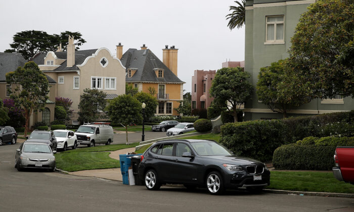 A view of homes in San Francisco on Aug. 9, 2017. (Justin Sullivan/Getty Images)
