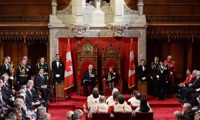 Governor General Julie Payette delivers the Throne Speech in the Senate chamber on Dec. 5, 2019 in Ottawa. (The Canadian Press/Sean Kilpatrick)