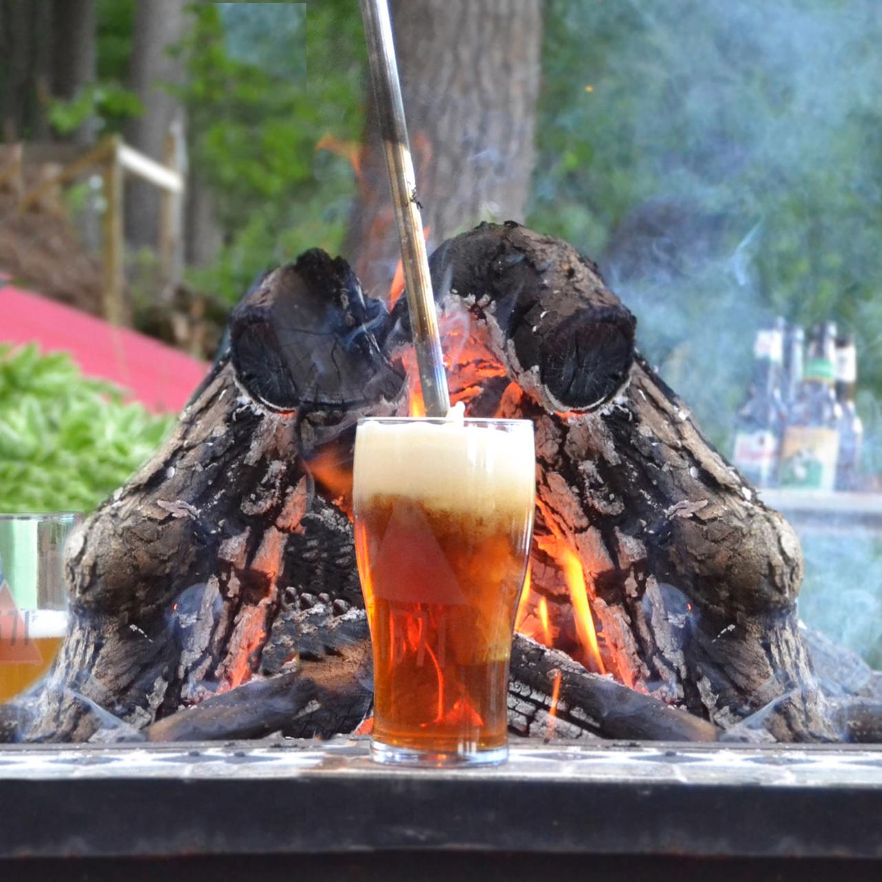 campfire beer caramelizer