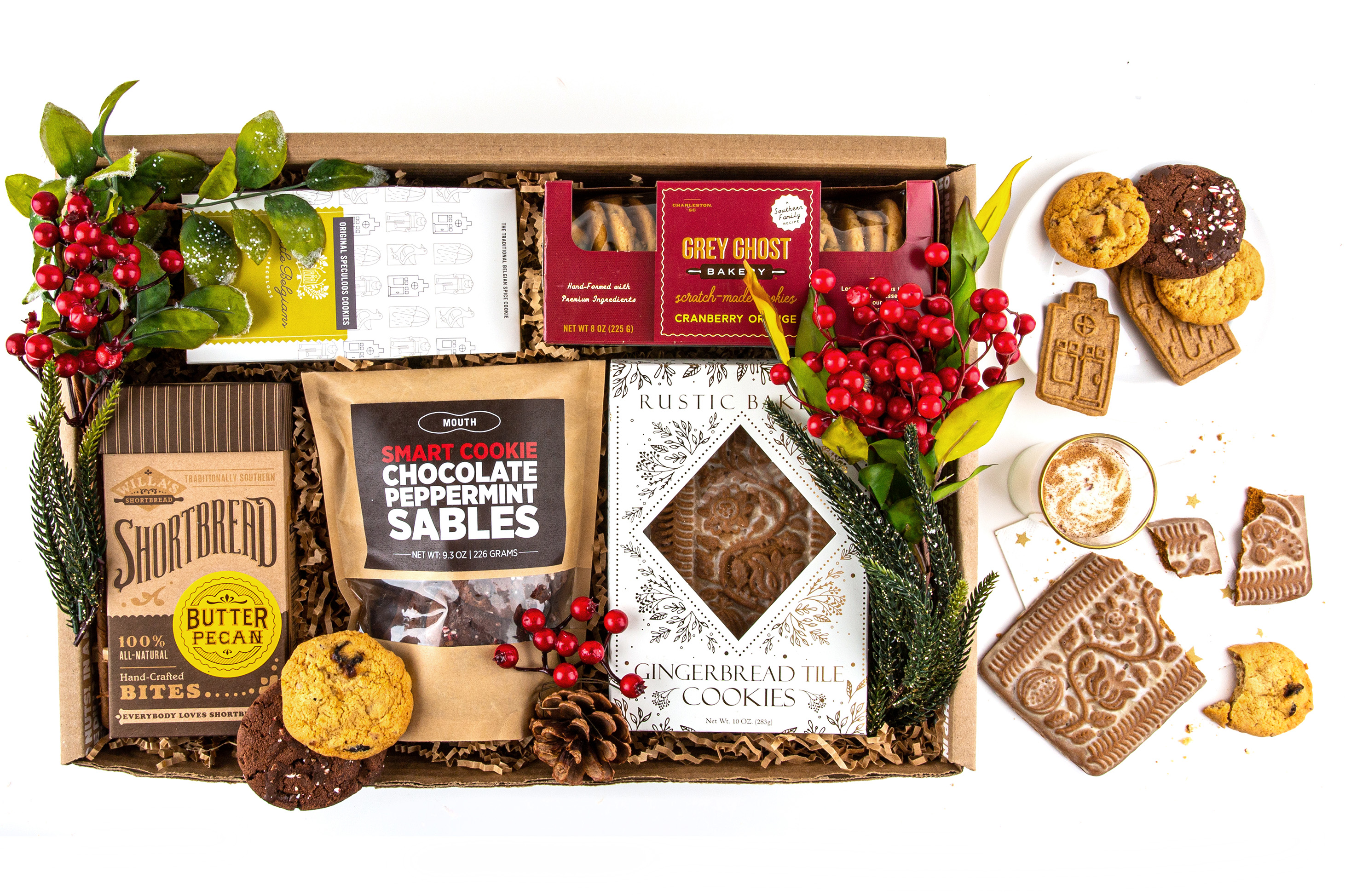 mouth holiday cookie plate gift box