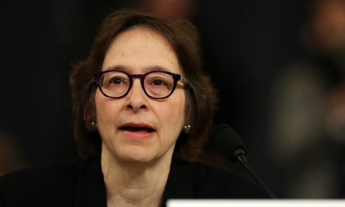 Constitutional scholar Pamela Karlan of Stanford University testifies before the House Judiciary Committee on Capitol Hill in Washington on Dec. 4, 2019. (Chip Somodevilla/Getty Images)