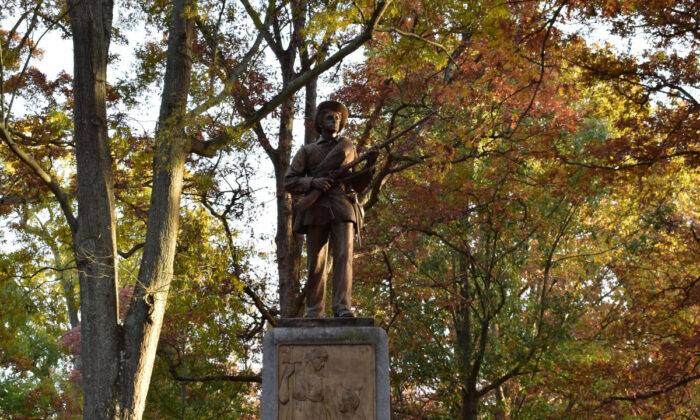 The Confederate monument known as Silent Sam in University of North Carolina Chapel Hill campus. (adioCX/Shutterstock)