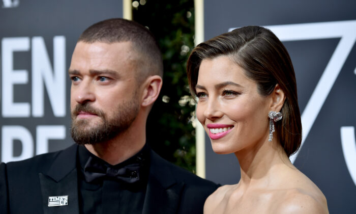 Justin Timberlake and Jessica Biel attend The 75th Annual Golden Globe Awards at The Beverly Hilton Hotel on Jan. 7, 2018 in Beverly Hills, Calif. (Frazer Harrison/Getty Images)