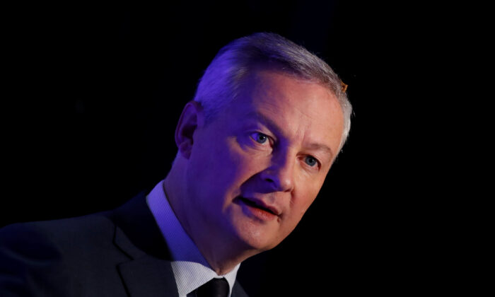 French Finance Minister Bruno Le Maire attends a news conference in Boulogne-Billancourt, near Paris, France, on Nov. 7, 2019. (Reuters/Gonzalo Fuentes)