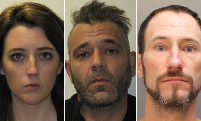 Pictured here: Katelyn McClure, Mark D'Amico, and Johnny Bobbitt Jr. have all pleaded guilty. (Burlington County Prosecutor's Office)