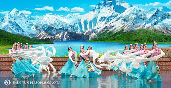 "Shen Yun dancers perform the Tibetan ethnic dance ""Celebrating the Divine."" (© 2016 Shen Yun Performing Arts)"