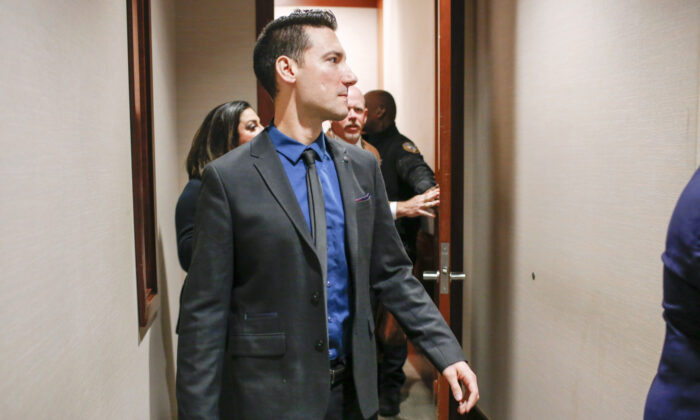 David Daleiden arrives at the Harris County Courthouse in Houston, Tex., on Feb. 4, 2016. (Eric Kayne/Getty Images)