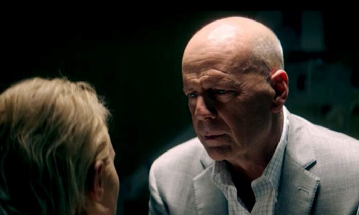 """Nicky Whelan and Bruce Willis in """"Trauma Center."""" ( Lionsgate)"""