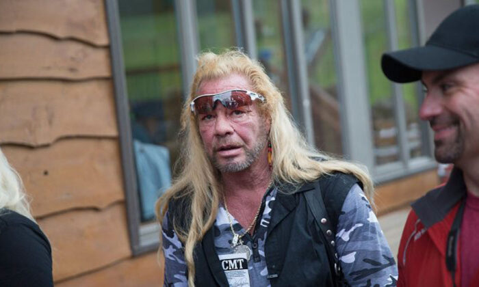 'Dog the Bounty Hunter,' Duane Chapman films a segment in Malone, N.Y., on June 28, 2015. (Scott Olson/Getty Images)