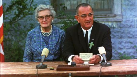 President Lyndon B. Johnson signing the Elementary and Secondary Education Act. Public domain Wikimedia Commons