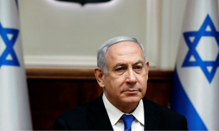 Israeli Prime Minister Benjamin Netanyahu attends the weekly cabinet meeting in Jerusalem on Dec. 8, 2019. (Ronen Zvulun/Reuters)