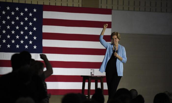 Democratic presidential hopeful Sen. Elizabeth Warren (D-Mass.) speaks during a town hall in Charleston, S.C. on Dec. 8, 2019. (Meg Kinnard/AP Photo)