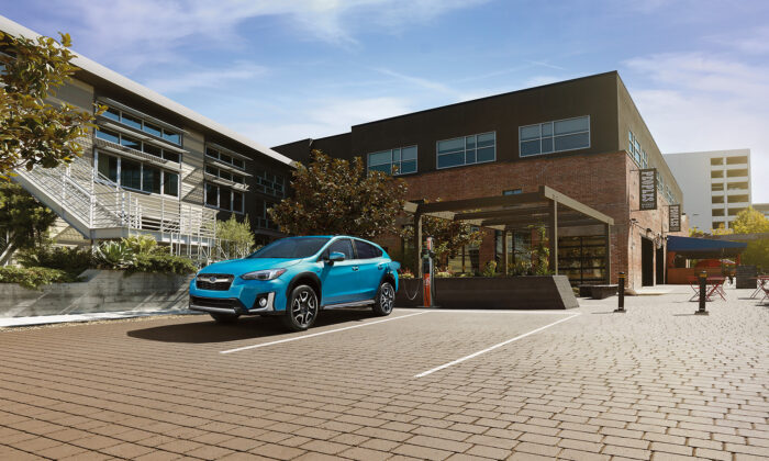 Subaru Crosstrek Plug-in Hybrid at a charging station. (Subaru Canada)