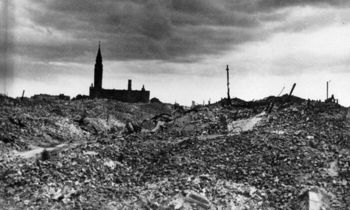 About 95 percent of Warsaw lay in rubble after Hitler, enraged by the uprising, ordered the city to be eliminated. Its population of 1.3 million before the war was reduced to fewer than 1,000 people. Keystone/Getty Images