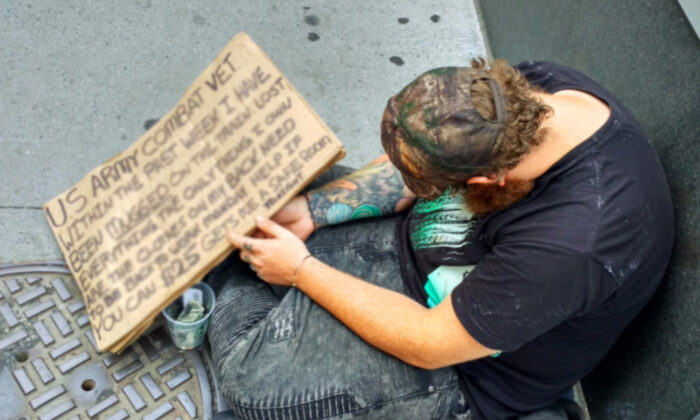 A homeless man in a file photo. (Illustration - Shutterstock)