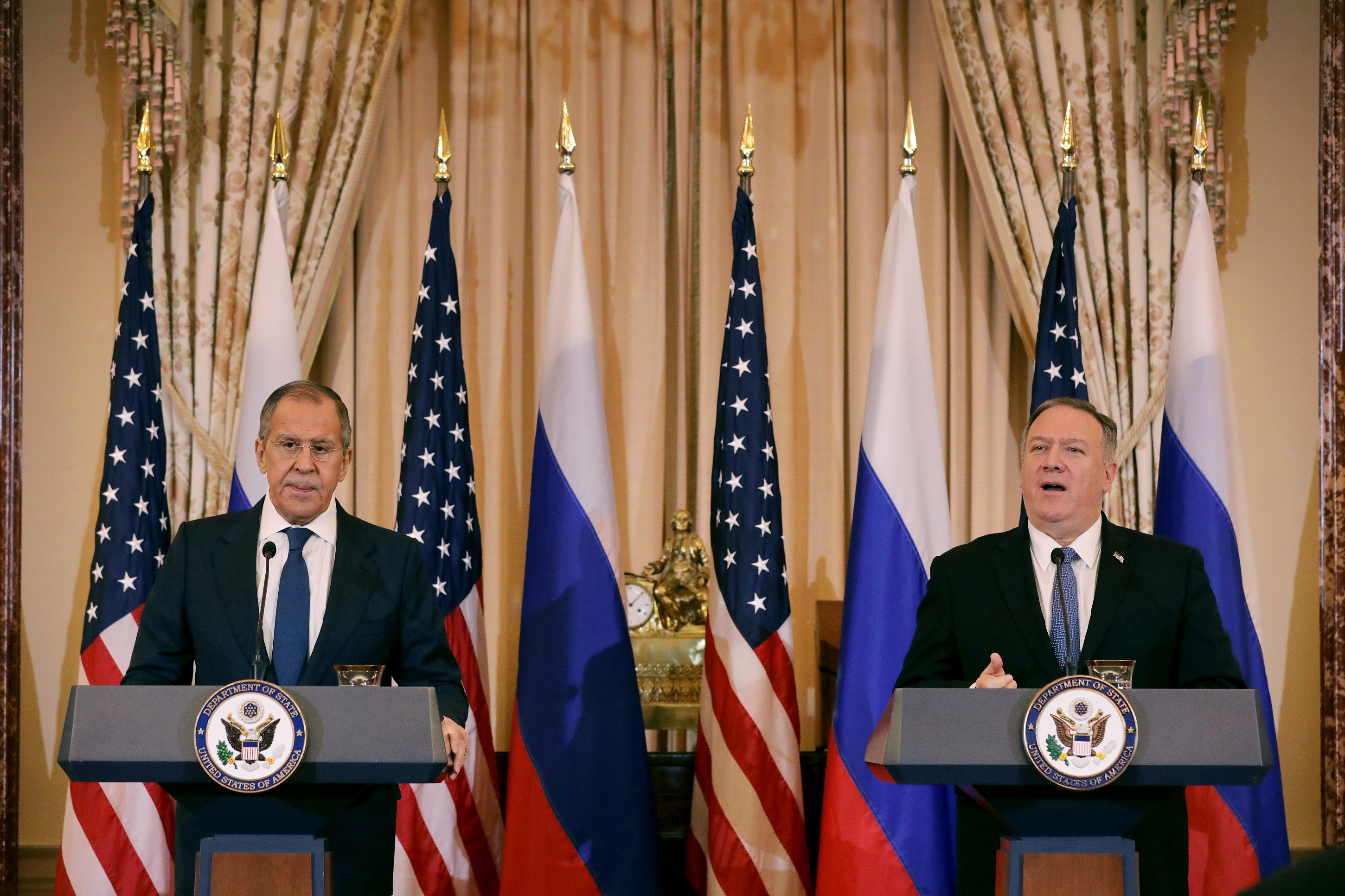Pompeo Tells Russian Official: 'Interference in Our Domestic Affairs' Is 'Unacceptable'