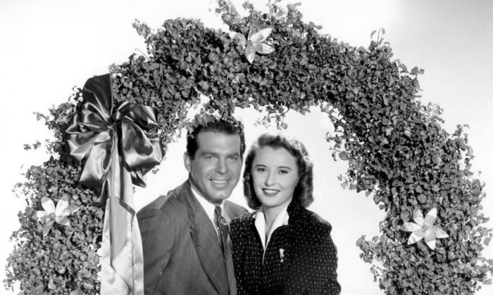 "Fred MacMurray and Barbara Stanwyck in a promotion photo for their film ""Remember the Night."" (Courtesy Everett Collection)"