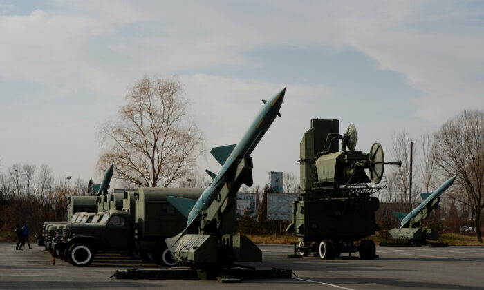 Surface to Air missiles are on display at the People's Liberation Army Aviation Museum in Beijing on December 4, 2013. (Mark Ralston/AFP via Getty Images)