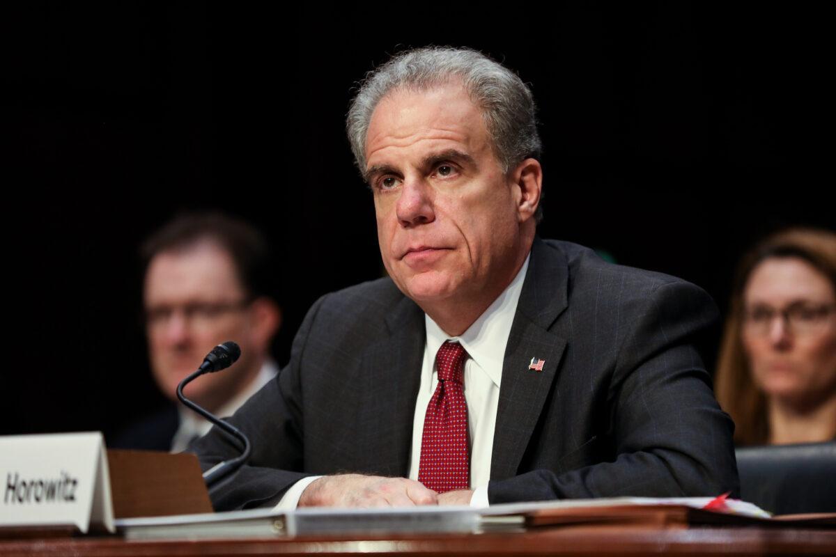 Department of Justice Inspector General Michael Horowitz