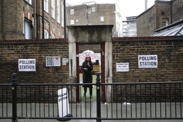 London polling station